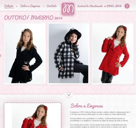 Print do projeto Menina Brasil
