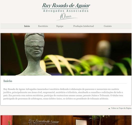 Print do projeto Ruy Rosado de Aguiar Advogados Associados