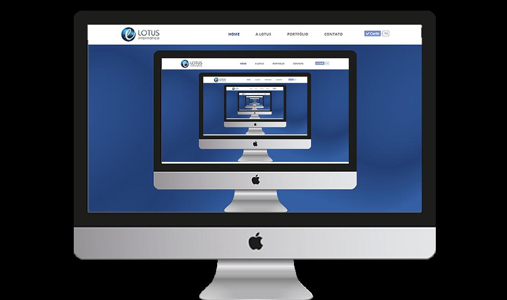 Site da Lotus TI Informática